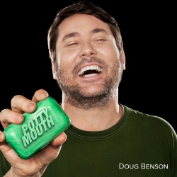 "Doug Benson ""Potty Mouth"" CD cover"