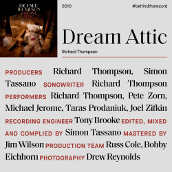 Richard Thompson Dream Attic credit cover