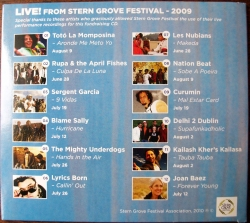 Live From Stern Grove Festival 2009 album back