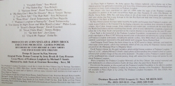 Piano Night at Tipitina's 1994 CD inside liner notes