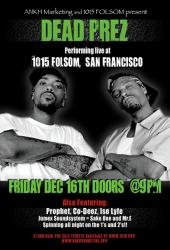 Flyer for 12/16/05 Dead Prez show