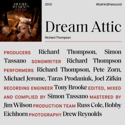 Richard Thompson Dream Attic credit cover