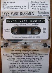 Ray's Vast Basement- Songs From Drakesville, 1996 liner notes