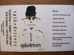 Spikedrivers 1994 EP liner notes
